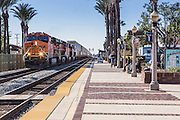 BNSF Railroad Train Stopped at Fullerton Transportation Center