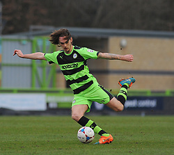 Forest Green Rovers's Tom Bender - Photo mandatory by-line: Nizaam Jones - Mobile: 07966 386802 - 14/03/2015 - SPORT - Football - Nailsworth - The New Lawn - Forest Green Rovers v Braintree  - Vanarama Football Conference.