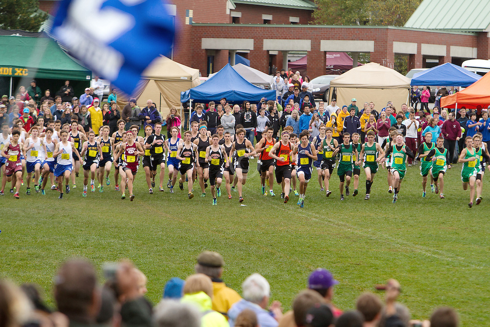 Festival of Champions High School Cross Country meet, start, boys seeded