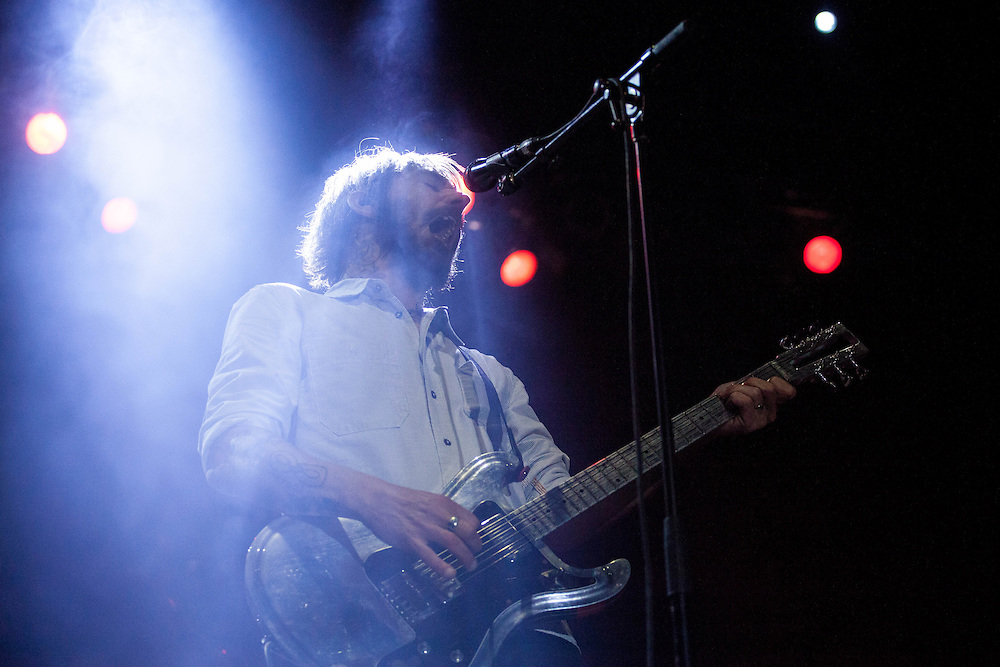 Band of Horses rock out Saturday night at the Beale Street Music Festival in Memphis, Tennessee.