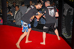 November 15, 2012; Montreal, Quebec, CAN; Carlos Condit works out ahead of his upcoming UFC Welterweight title showdown against Georges St. Pierre.  The two will meet Saturday at UFC 154 at the Bell Centre in Montreal, CAN.  Photo: Ed Mulholland