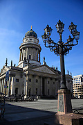 Germany Berlin Franzosischer Dom (French Cathedral) in the Gendarmenmarkt