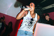 Queen Ebony performing on stage. UK Grime Music. Brighton 2014