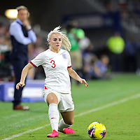 England defender Alex Greenwood (3) is seen during the first match of the 2020 She Believes Cup soccer tournament at Exploria Stadium on 5 March 2020 in Orlando, Florida USA.