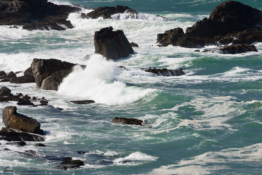 Waves Crash on the Beaches of Mendocino Headlands State Park
