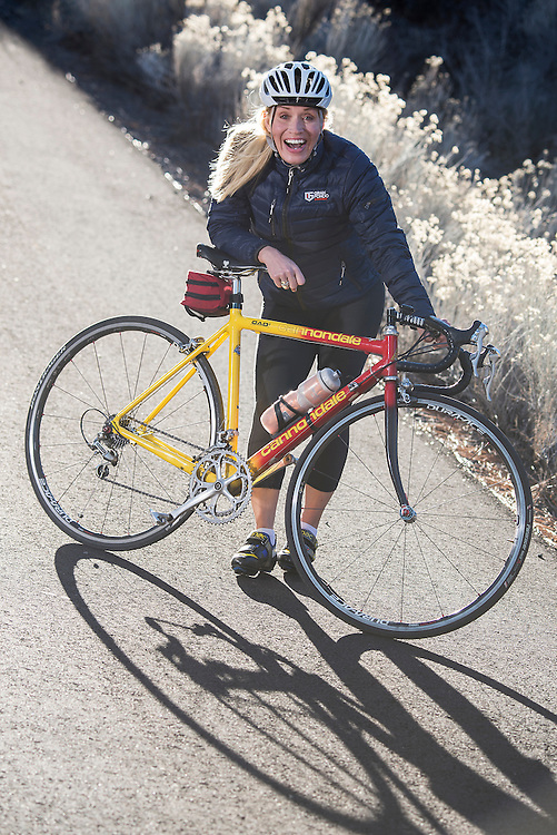Marianne Berglund, Swedish World Campion, road bike racer,Bend, Oregon,USA,Model release 0390