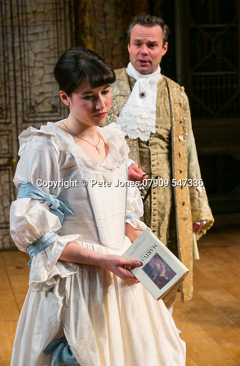 The Rehearsal by Jean Anouilh;<br /> Directed by Jeremy Sams;<br /> Jamie Glover as The Count;<br /> Gabrielle Dempsey as Lucille;<br /> Minerva Theatre, Chichester;<br /> 13 May 2015