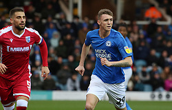 Jack Taylor of Peterborough United in action with Max Ehmer of Gillingham - Mandatory by-line: Joe Dent/JMP - 11/01/2020 - FOOTBALL - Weston Homes Stadium - Peterborough, England - Peterborough United v Gillingham - Sky Bet League One