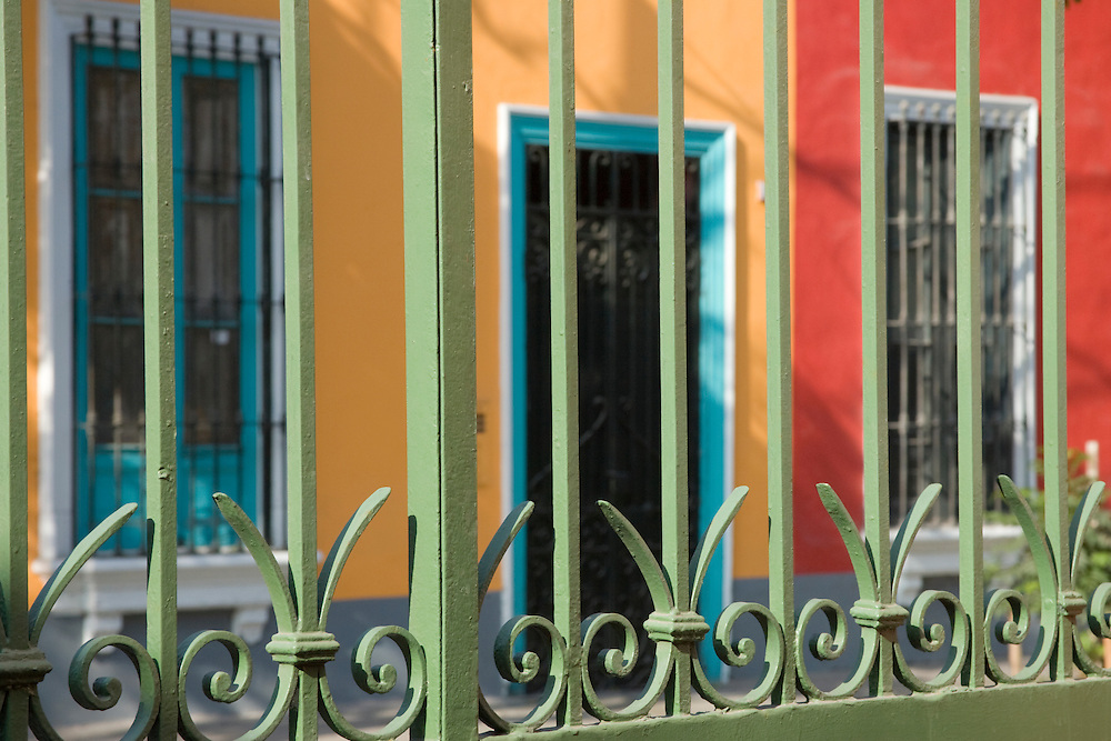 Colorful houses in Barranco neighborhood, Lima, Peru, South America