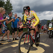 Tejay Van Garderen made the 2013 USA Pro Challenge his own by way of a dominating time trial up Vail Pass, setting the fastest time of the stage, and a course record.