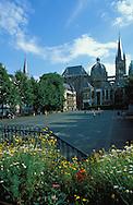 DEU, Germany, Aachen, the cathedral and the square Katschhof ....DEU, Deutschland, Aachen, der Dom und der Katschhof. ......