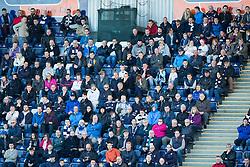 Falkirk's west stand.<br /> Falkirk 3 v 0 St Mirren. Scottish Championship game played 21/10/2015 at The Falkirk Stadium.