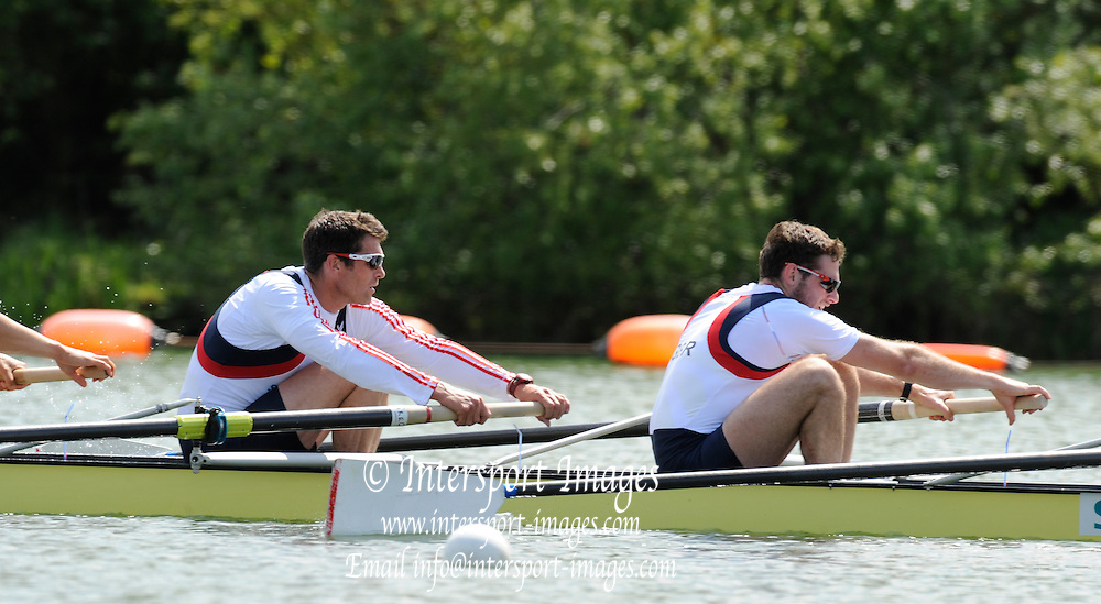 Caversham, Great Britain,  left Greg SEARLE and Nathaniel REILLY-O'DONNELL, GB Rowing media day at the GB Rowing Training centre, Caversham. Monday,  17/05/2010 [Mandatory Credit. Peter Spurrier/Intersport Images]