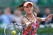 Agnieszka Radwanska from Poland competes in women's single the third round while Day Sixth during Roland Garros 2014 at Roland Garros Tennis Club in Paris, France.<br /> <br /> France, Paris, May 30, 2014<br /> <br /> Picture also available in RAW (NEF) or TIFF format on special request.<br /> <br /> For editorial use only. Any commercial or promotional use requires permission.<br /> <br /> Mandatory credit:<br /> Photo by © Adam Nurkiewicz / Mediasport@