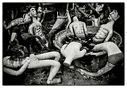"""Plaster-cast models re-enact Buddhist Hell Paintings, in the grounds of the Pha Koeng Buddhist temple, Chaiyaphum Province, Northeast Thailand, 2011. From the series: Pha Koeng"""" (2011-2017)."""