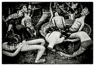 "Plaster-cast models re-enact Buddhist Hell Paintings, in the grounds of the Pha Koeng Buddhist temple, Chaiyaphum Province, Northeast Thailand, 2011. From the series: Pha Koeng"" (2011-2017)."