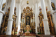Karmelitenkirche innen, Barock, Straubing, Donau, Bayerischer Wald, Bayern, Deutschland | Carmelite church, baroque interior, Straubing, Danube, Bavarian Forest, Bavaria, Germany