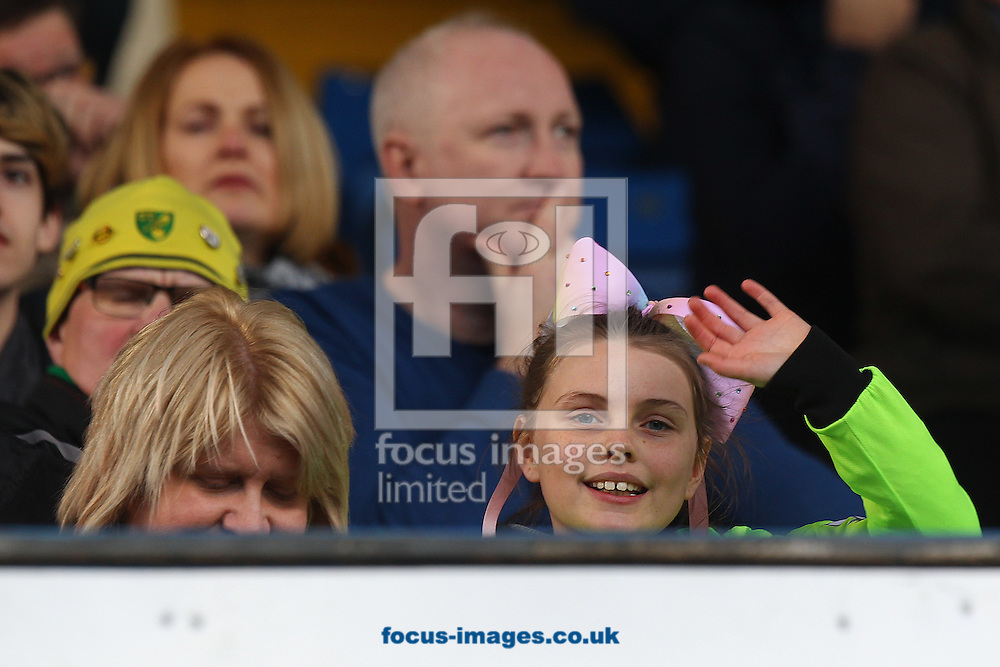 One young Norwich fan still looks happy despite her side going two goals down during the Sky Bet Championship match at Hillsborough, Sheffield<br /> Picture by Paul Chesterton/Focus Images Ltd +44 7904 640267<br /> 04/03/2017