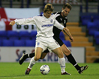 Photo: Paul Thomas.<br /> Tranmere Rovers v Bristol City. Coca Cola League 1. 08/09/2006.<br /> <br /> Tranmere's Chris Greenacre (L) keeps the ball from Louis Carey.