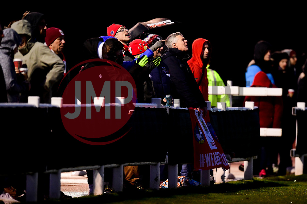 Bristol City Women fans - Mandatory by-line: Ryan Hiscott/JMP - 08/12/2019 - FOOTBALL - Stoke Gifford Stadium - Bristol, England - Bristol City Women v Birmingham City Women - Barclays FA Women's Super League
