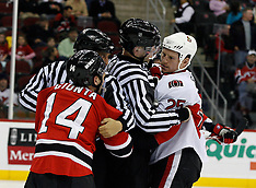 February 13, 2008: Ottawa Senators at New Jersey Devils