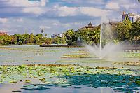Kandawgyi Lake at Yangon (Rangoon) in Myanmar (Burma)