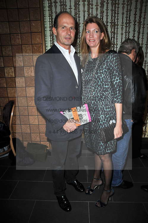 COUNT & COUNTESS RICCARDO PAVONCELLI she was Cosima Von Bulow daughter of Claus Von Bulo at the launch of Nicky Haslam's autobiography Redeeming Features held at Aqua Nueva, 240 regent Street, London on 5th November 2009.