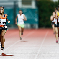 Vanessa Lee of National University of Singapore leads the field on her last lap during the women's 5000m event. (Photo &copy; Lim Yong Teck/Red Sports) The 2018 Institute-Varsity-Polytechnic Track and Field Championships were held over three days in January.<br />
