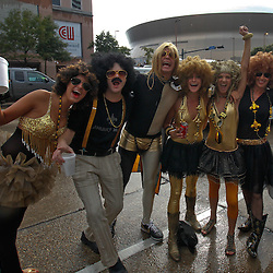 September 9, 2010; New Orleans, LA, USA;  New Orleans Saints fans outside prior to the NFL Kickoff season opener between the Minnesota Vikings and the New Orleans Saints at the Louisiana Superdome. Mandatory Credit: Derick E. Hingle