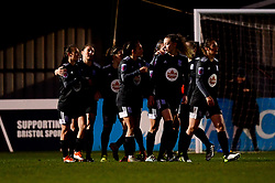 Birmingham celebrate their second goal - Mandatory by-line: Ryan Hiscott/JMP - 08/12/2019 - FOOTBALL - Stoke Gifford Stadium - Bristol, England - Bristol City Women v Birmingham City Women - Barclays FA Women's Super League