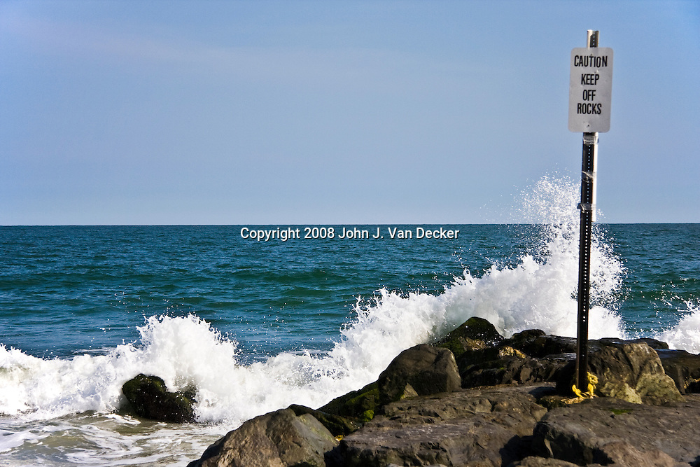 Dangerous jetty, Cape May, New Jersey