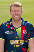 Adam Riley of Kent  during the Kent County Cricket Club Headshots 2017 Press Day at the Spitfire Ground, Canterbury, United Kingdom on 31 March 2017. Photo by Martin Cole.