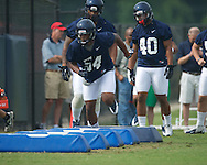 Ole Miss' Carlos Thompson at football practice in Oxford, Miss. on Saturday, August 3, 2013.