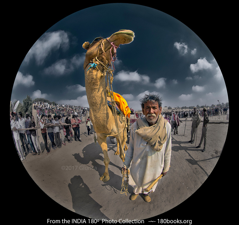 Man and His Camel at the Desert Festival in Rajasthan, India