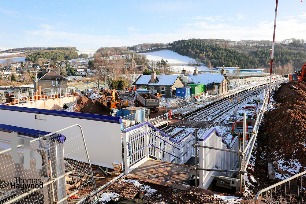 Stow Station with contruction of the station well advanced on 4th Feb 2015