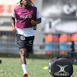 Odwa Ndungane during The Cell C Sharks High CNS Rugby / Skills / Field Conditioning KP2, session at Growthpoint Kings Park in Durban, South Africa. December 9th December 2016 (Photo by Steve Haag)<br /> <br /> images for social media must have consent from Steve Haag