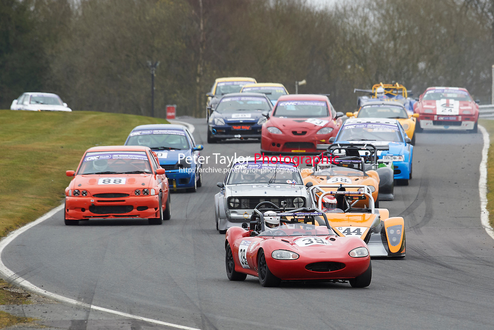 #39 Jamie CRYER Ginetta G20 1800 during CNC Heads Sports / Saloon Championship as part of the BARC NW - Championship Raceday  at Oulton Park, Little Budworth, Cheshire, United Kingdom. March 19 2016. World Copyright Peter Taylor/PSP. Copy of publication required for printed pictures.  Every used picture is fee-liable. http://archive.petertaylor-photographic.co.uk