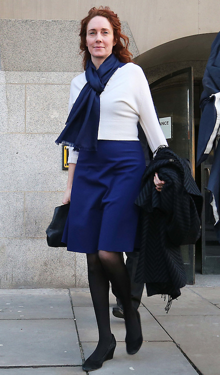 Rebekah Brooks leaving the Phone Hacking trial at the Old Bailey in London,, Thursday, 20th February 2014. Picture by Stephen Lock / i-Images
