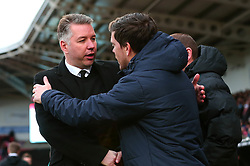 Doncaster Rovers manager Darren Ferguson shakes hands with Bristol Rovers manager Darrell Clarke - Mandatory by-line: Robbie Stephenson/JMP - 27/01/2018 - FOOTBALL - The Keepmoat Stadium - Doncaster, England - Doncaster Rovers v Bristol Rovers - Sky Bet League One
