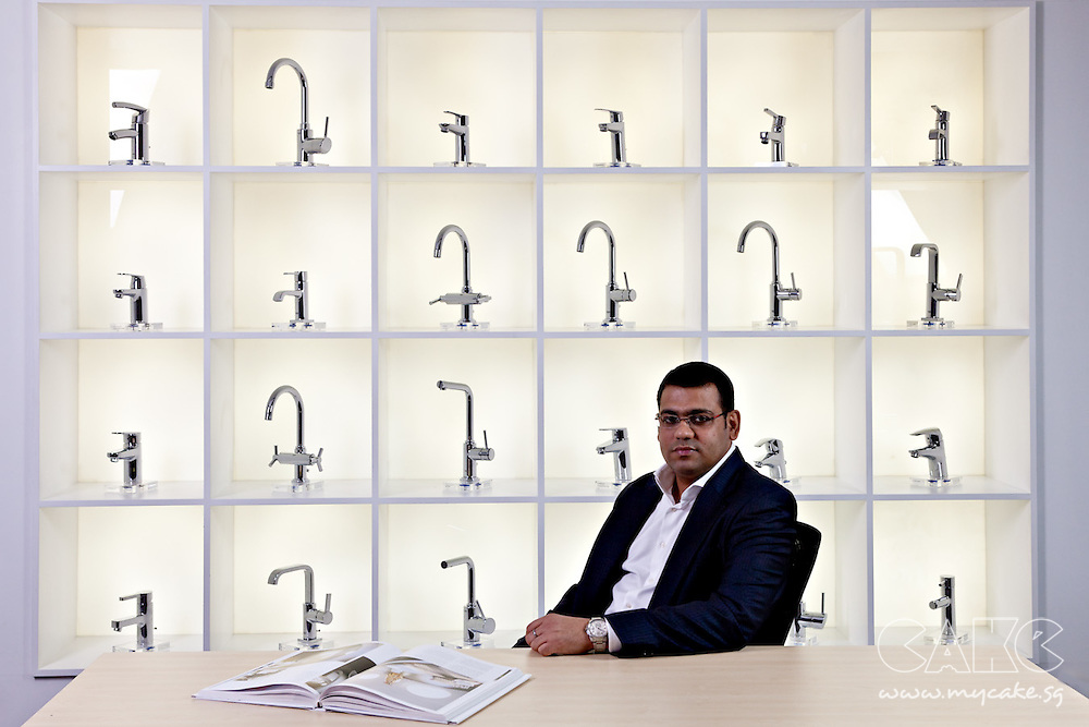 On-location shot of the managing director of Grohe Singapore.
