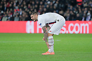 Mauro ICARDI (PSG) reacted after been hurted during the UEFA Champions League, Group A football match between Paris Saint-Germain and Club Brugge on November 6, 2019 at Parc des Princes stadium in Paris, France - Photo Stephane Allaman / ProSportsImages / DPPI