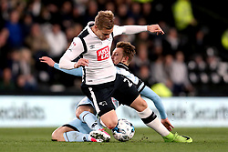 Luke Freeman of Queens Park Rangers fouls Matej Vydra of Derby County - Mandatory by-line: Robbie Stephenson/JMP - 31/03/2017 - FOOTBALL - iPro Stadium - Derby, England - Derby County v Queens Park Rangers - Sky Bet Championship
