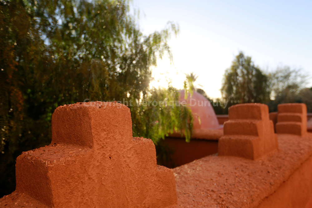 "Détail de l'architecture traditionnelle  de l'Hotel ""Dar Ahlam"", Oasis de Skoura, Sud Maroc // ""Dar Ahlam"" hotel, Skoura oasis, southern Morocco"