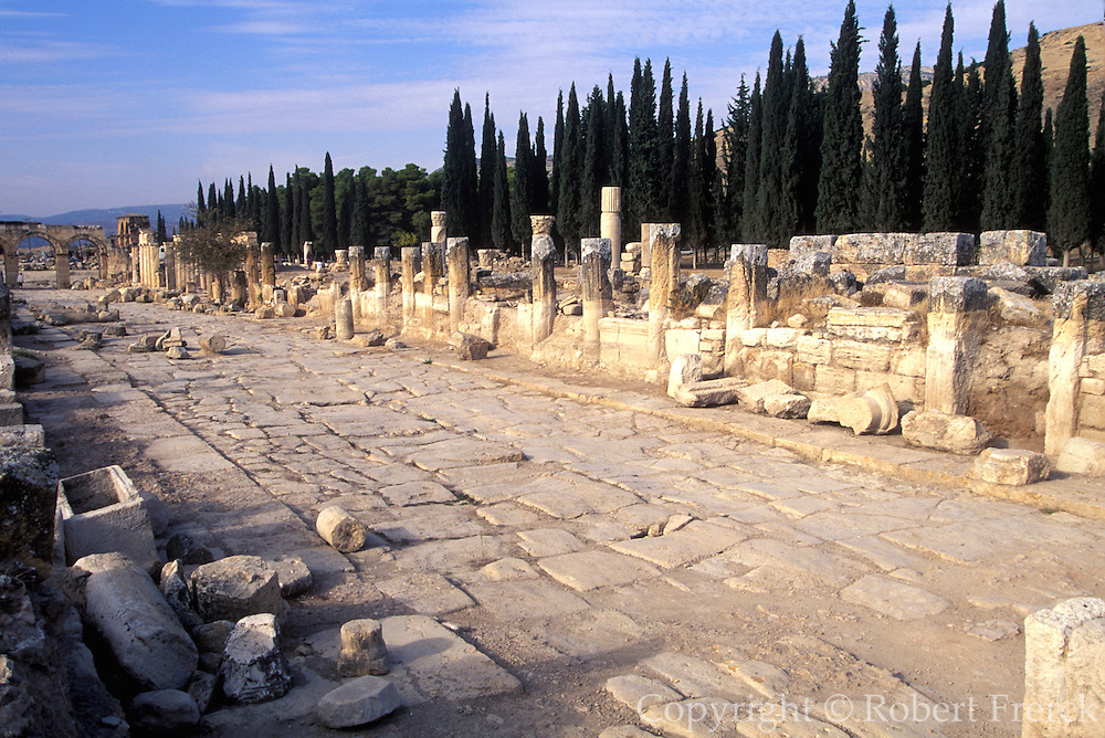 TURKEY, GREEK AND ROMAN Hierapolis-Pamukkale street 1-3c.AD