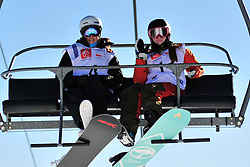 World Cup Banked Slalom, ROUNDY Nicole, USA, VAN EGMOND Enya, NED at the 2016 IPC Snowboard Europa Cup Finals and World Cup