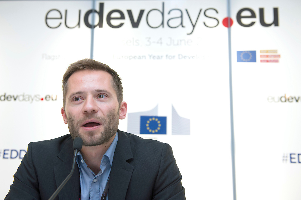 03 June 2015 - Belgium - Brussels - European Development Days - EDD - Growth - Fighting poverty through innovative business models - Michael Schlup , Partnerships Coordinator , Cocoa Sustainability , Barry Callebaut Sourcing AG © European Union