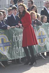 February 27, 2019 - Belfast, United Kingdom - Image licensed to i-Images Picture Agency. 27/02/2019. Belfast , United Kingdom. The Duke and Duchess of Cambridge arriving at  the Irish Football Association at  Windsor Park in Belfast, Northern Ireland. (Credit Image: © Stephen Lock/i-Images via ZUMA Press)
