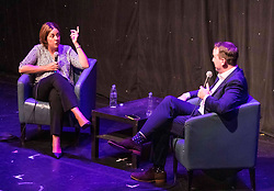 Kezia Dugdale takes part in an interview with Matt Forde at the Edinburgh Fringe Festival. During the interview she confessed that she didn't think Jeremy Corbyn will become Prime Minister.<br /> <br /> Pictured: Kezia Dugdale and Matt Forde