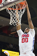 DALLAS, TX - DECEMBER 17: Ben Moore #00 of the SMU Mustangs drives to the basket against the Hampton Pirates on December 17, 2015 at Moody Coliseum in Dallas, Texas.  (Photo by Cooper Neill/Getty Images) *** Local Caption *** Ben Moore