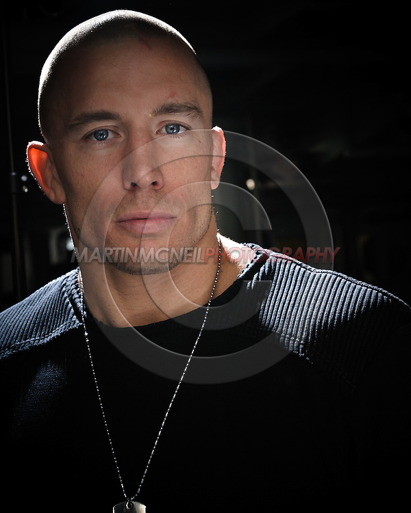 "A portrait of mixed martial arts athlete Georges ""Rush"" St. Pierre"